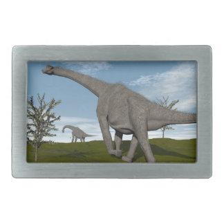 Brachiosaurus dinosaur walking - 3D render Belt Buckles