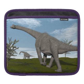 Brachiosaurus dinosaur walking - 3D render iPad Sleeve