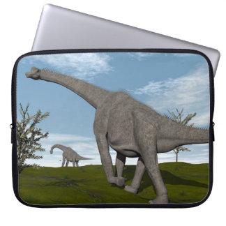 Brachiosaurus dinosaur walking - 3D render Laptop Sleeve