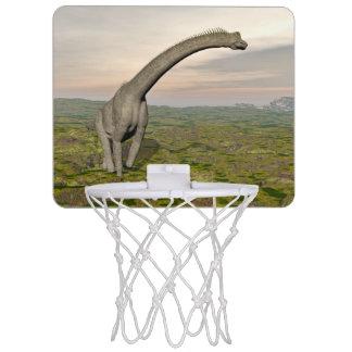 Brachiosaurus dinosaur walking - 3D render Mini Basketball Hoop