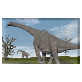 Brachiosaurus dinosaur walking - 3D render Place Card Holder