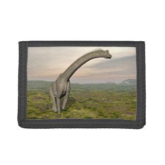 Brachiosaurus dinosaur walking - 3D render Trifold Wallet