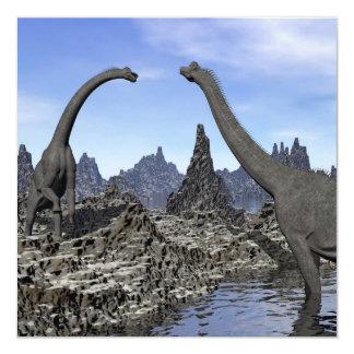Brachiosaurus dinosaurs - 3D render Card