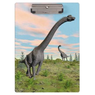Brachiosaurus dinosaurs - 3D render Clipboard