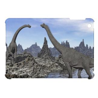 Brachiosaurus dinosaurs - 3D render Cover For The iPad Mini