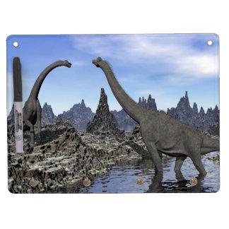 Brachiosaurus dinosaurs - 3D render Dry Erase Board With Key Ring Holder