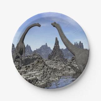 Brachiosaurus dinosaurs - 3D render Paper Plate