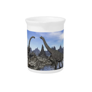 Brachiosaurus dinosaurs - 3D render Pitcher