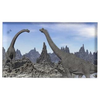 Brachiosaurus dinosaurs - 3D render Place Card Holder