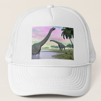 Brachiosaurus dinosaurs in nature - 3D render Trucker Hat