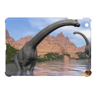 Brachiosaurus dinosaurs in water - 3D render iPad Mini Covers