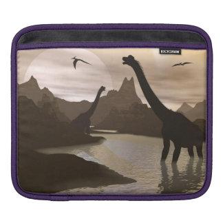 Brachiosaurus dinosaurs in water - 3D render iPad Sleeve
