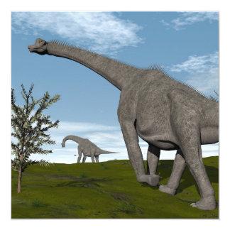 Brachiosaurus dinosaurs walk - 3D render Card