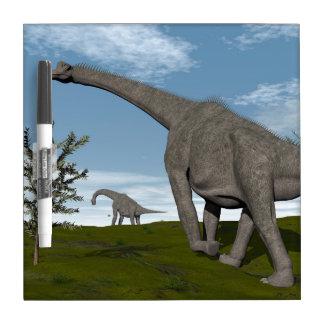 Brachiosaurus dinosaurs walk - 3D render Dry Erase Board