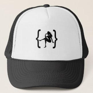 Bracket with a girl shadow trucker hat