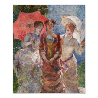Bracquemond Trio's Femmes aux Paraplus Poster