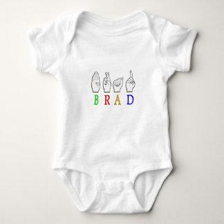 BRAD FINGGERSPELLED ASL NAME SIGN DEAF BABY BODYSUIT