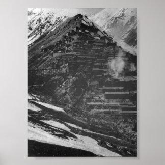 Braden Copper Mines in Chili Poster