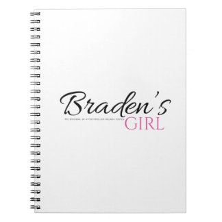 Braden's Girl with black and pink Notebook