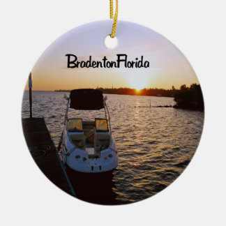 Bradenton Florida Ceramic Ornament