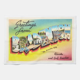 Bradenton Florida FL Old Vintage Travel Souvenir Towels