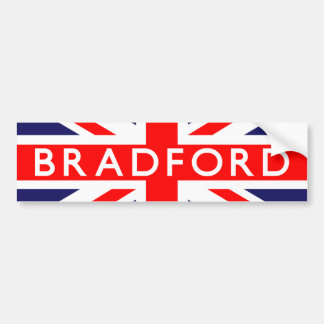 Bradford : British Flag Bumper Sticker