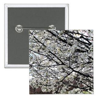 Bradford Pear Tree Blossoms Pinback Button