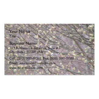 Bradford Pear Tree Buds Business Card Template