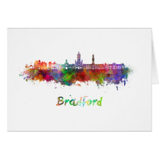 Bradford skyline in watercolor card