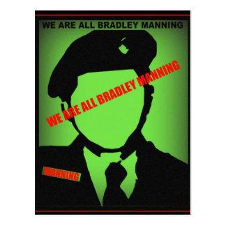 Bradley Manning Design Postcard