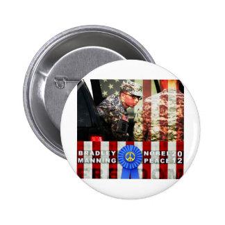 Bradley Manning for Nobel Peace Prize 6 Cm Round Badge