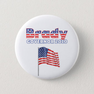 Brady Patriotic American Flag 2010 Elections 6 Cm Round Badge