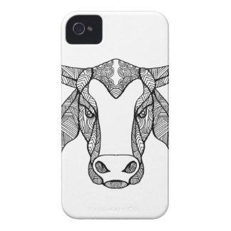 Brahma Bull Head Mandala iPhone 4 Case-Mate Case