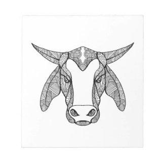 Brahma Bull Head Mandala Notepad