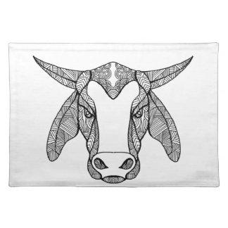 Brahma Bull Head Mandala Placemat