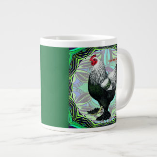 Brahma:  Fancy Dark Rooster Giant Coffee Mug