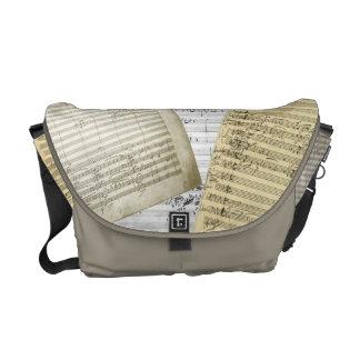 Brahms Music Manuscript Medley Messenger Bags