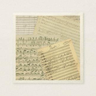 Brahms Music Manuscript Medley Disposable Serviette
