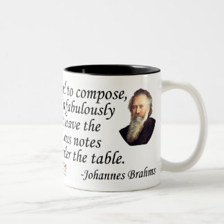 Brahms on Composing Two-Tone Coffee Mug