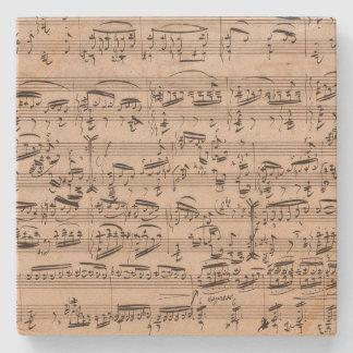Brahms Theme and Variations Music Manuscript Stone Coaster