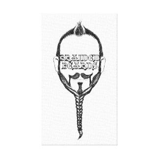 braided beards canvas print