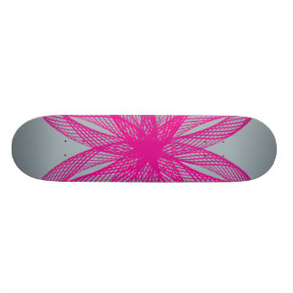 Braided Guilloche Pattern Grey 21.3 Cm Mini Skateboard Deck