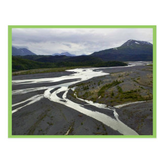 Braided River outwash plain Post Cards