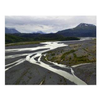 Braided River outwash plain Post Card