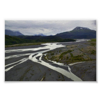 Braided River outwash plain Posters