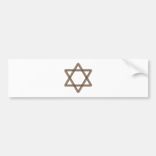 Braided Star of David Bar or Bat Mitzvah Bumper Sticker