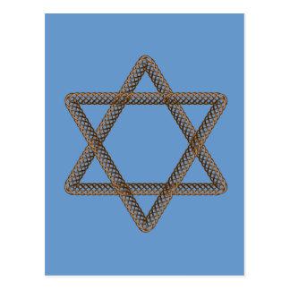 Braided Star of David Bar or Bat Mitzvah Postcard