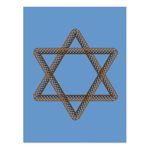 Braided Star of David Bar or Bat Mitzvah Postcards