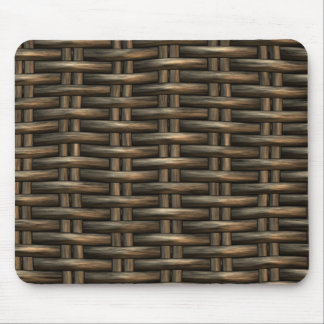 braided wicker background mouse pads