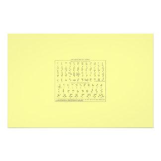 Braille Alphabet Stationary Stationery